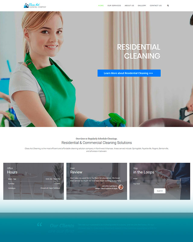 Class Act Cleaning Company