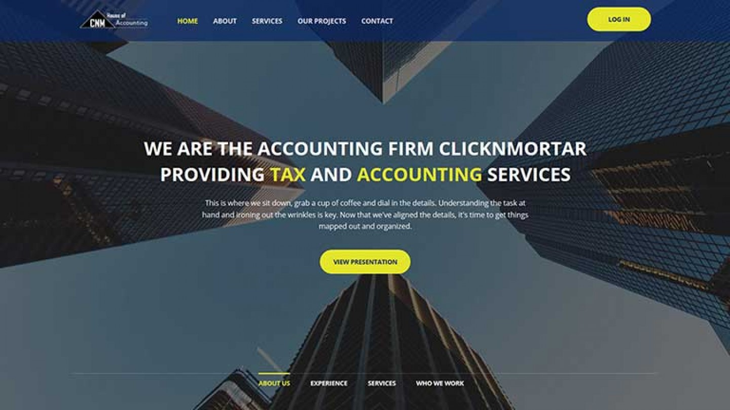 Web Design for accounting firm